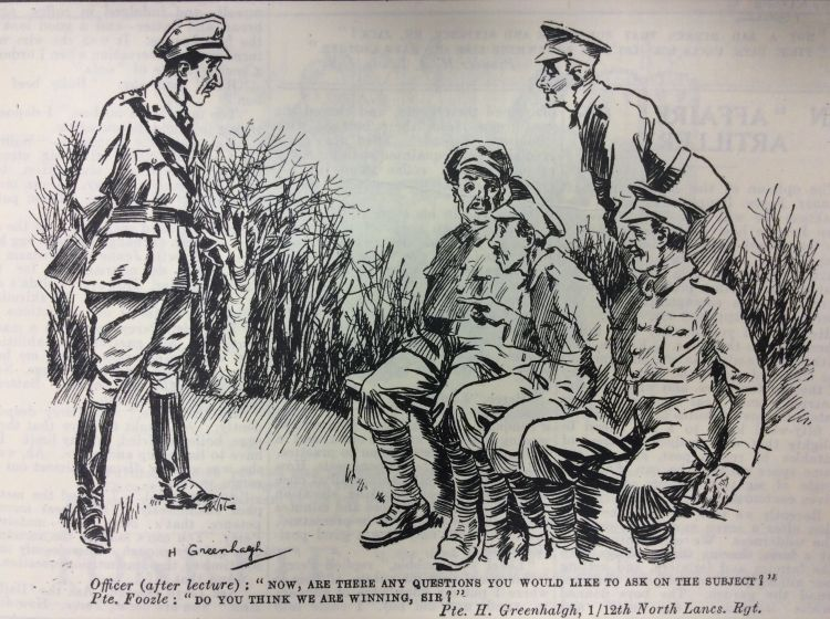 Blighty Magazine Cartoon officer and men