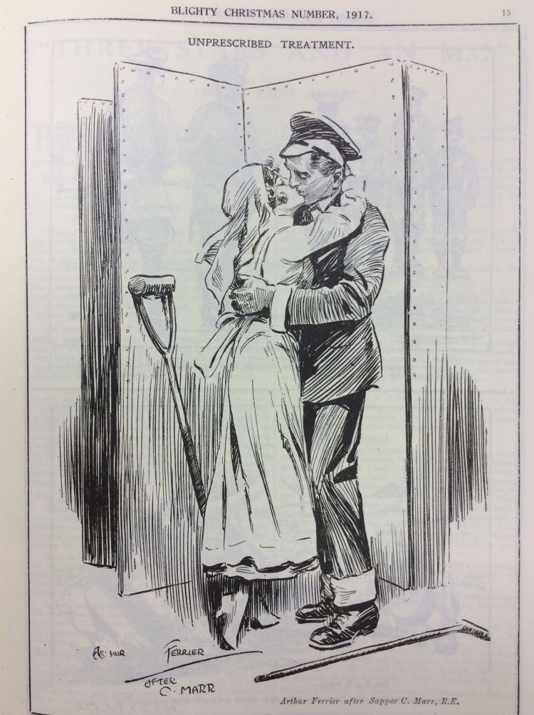 Blighty Magazine Cartoon romantic treatment