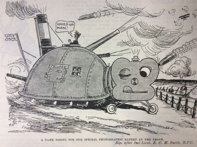 Blighty magazine cartoon HMS tank