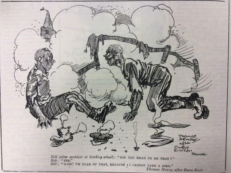 Blighty magazine cartoon bomb accident