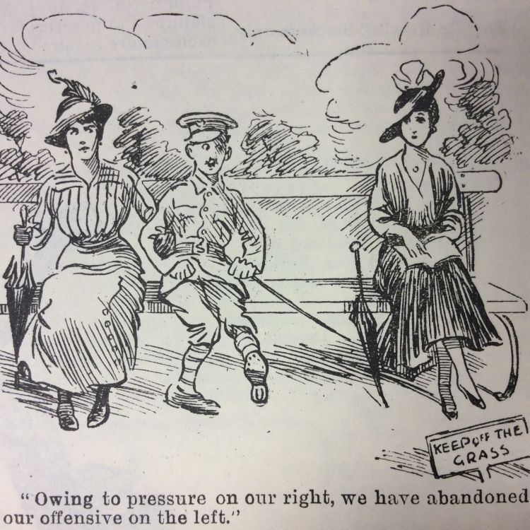 Blighty magazine cartoon jealous girlfriend