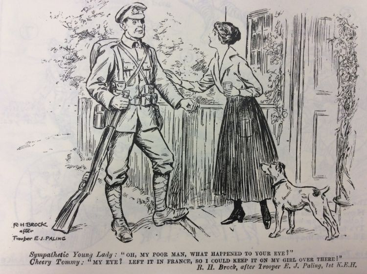 Blighty magazine cartoon soldier with bad eye