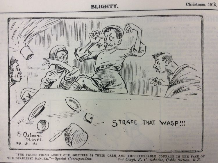 Blighty magazine cartoon wasp