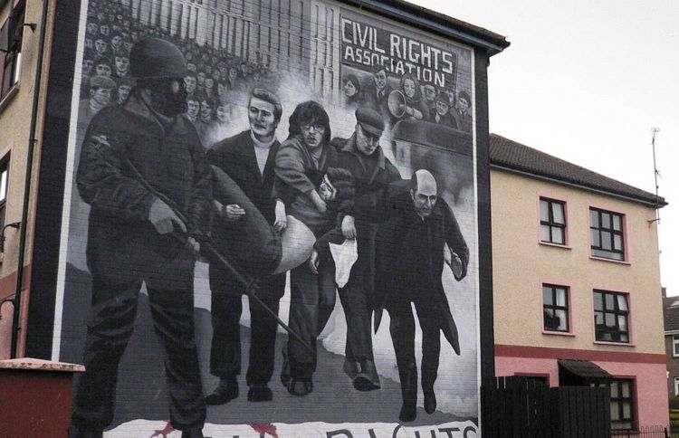 mural marking the events of Bloody Sunday