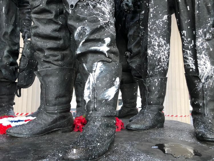 Bomber Command Memorial vandalised