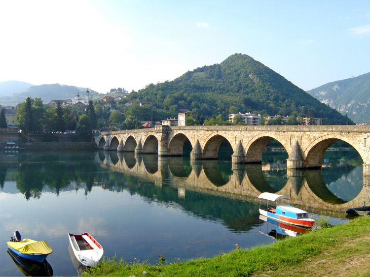 Bridge on the Drina, Visegrad, Bosnia and Herzegovina by Andrić Branislav