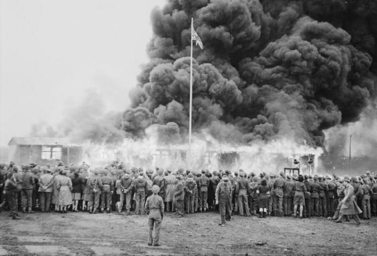 British Army burning Belsen