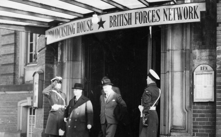 Sir Arthur Henderson, Secretary of State for Air visiting BFN Hamburg in 1947. Credit: Imperial War Museum