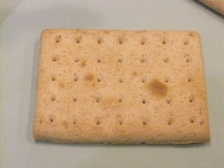 British WWI rations - hardtack biscuit