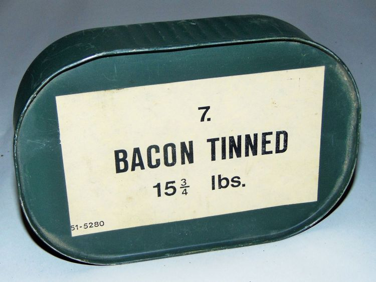 British WWII rations - tinned bacon