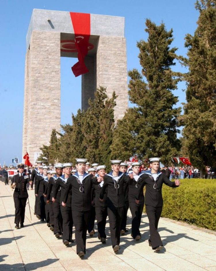 British sailors commemorating Gallipoli in Turkey