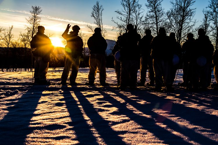 Sun Sets On Troops In Norway, Exercise Clockwork