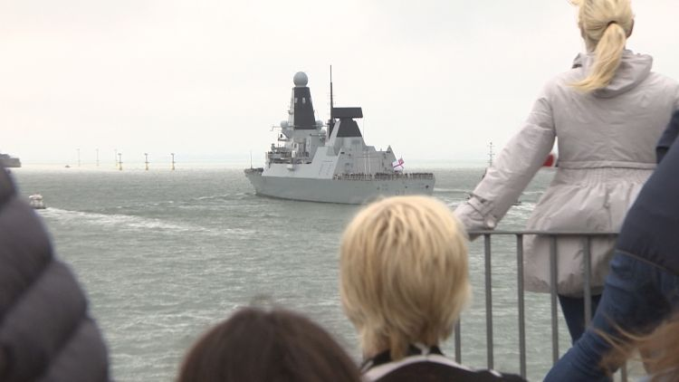 HMS Diamond Sets Off For 9 Month Deployment In The Gulf