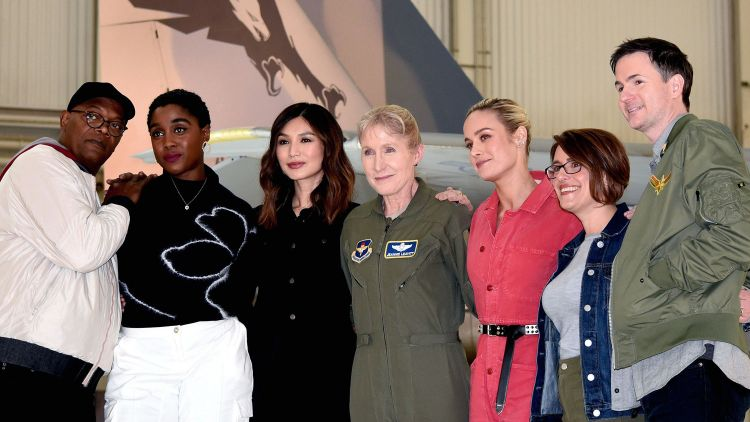 Captain Marvel Cast Edwards Air Force Base DVIDS DOD Credit Shannon Collins