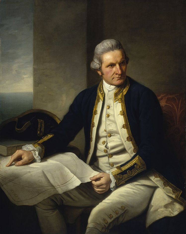 Captain Cook's First Voyage of Discovery made him a national hero (Image: National Maritime Museum).
