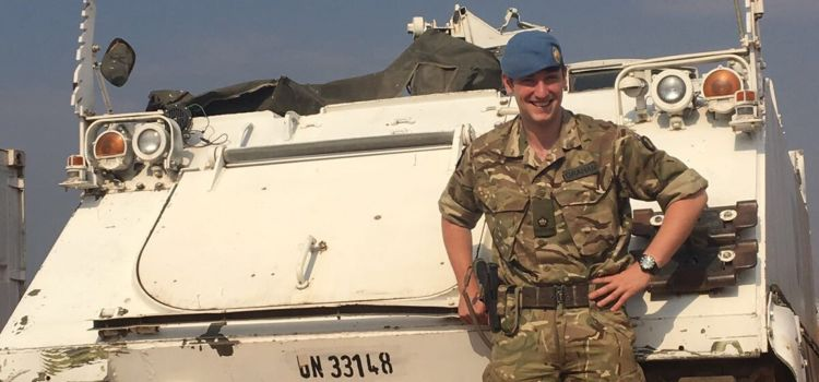 Captain Tim Graham is being honoured with an MBE for his role as a child protection advocate (Picture: British Army).