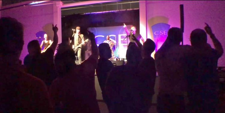 CSE band Brainstorm play to a rocking Falklands crowd