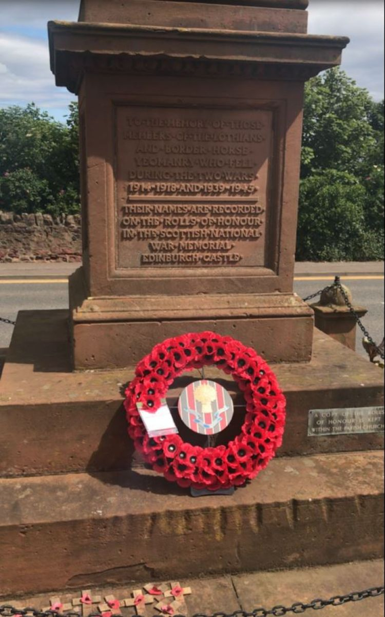 The Lothians and Border Yeomanry memorial in Dunbar.