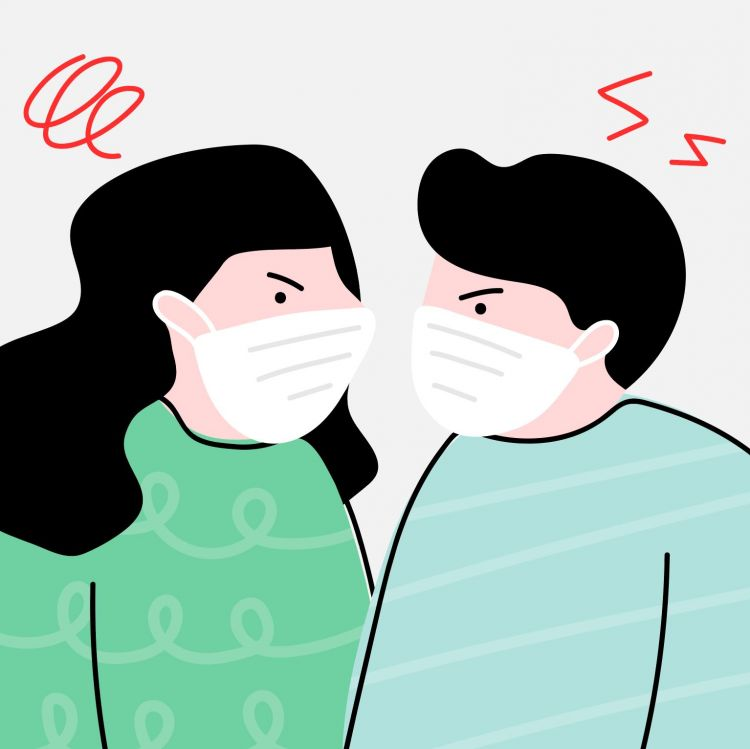 animated coronavirus couple. Credit: Rawpixel.