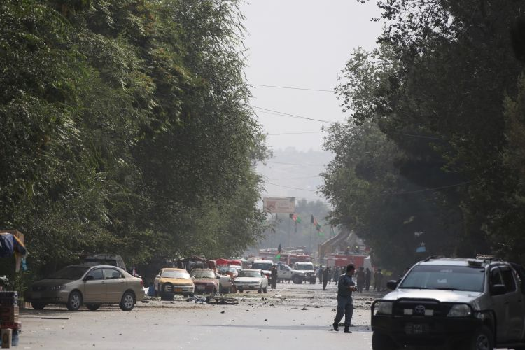 Car bomb aftermath in Shash Darak area of Kabul, Afghanistan
