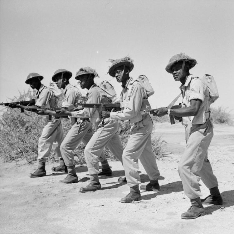 Caribbean troops training during World War Two