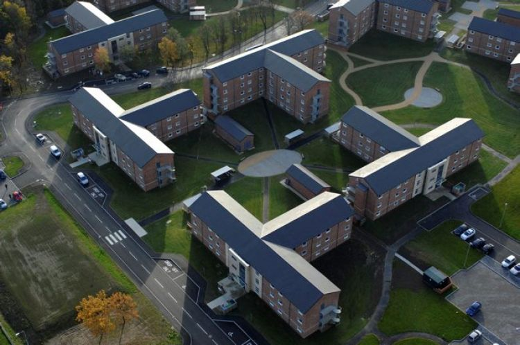 Catterick Garrison housing aerial