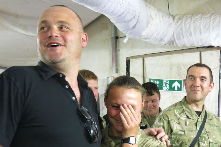 Comedian Al Murray with British Troops CSE