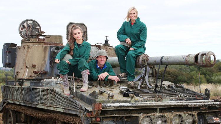 Stuart Pearce MBE Jenni Falconer Georgia Steel On Track Abbott Self Propelled Gun Forces Radio BFBS Special Programme DAB+