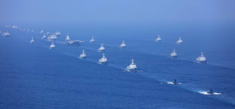 Chinese Navy review in the South China Sea on April 12, 2018