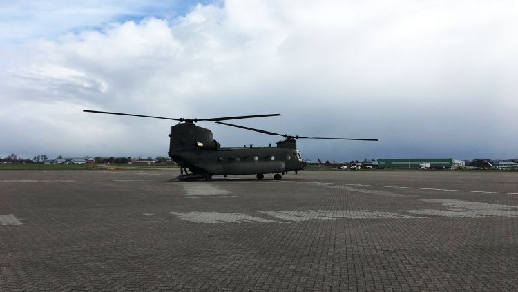 Chinook at RAF Northolt BFBS 050419