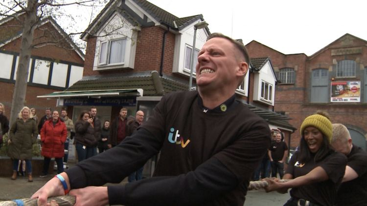 Coronation St actor Antony Cotton in Tug of War against Army