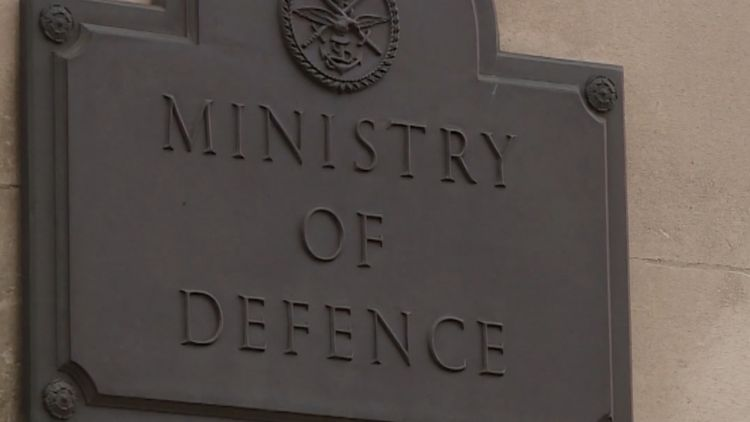 Ministry of Defence plaque outside HQ