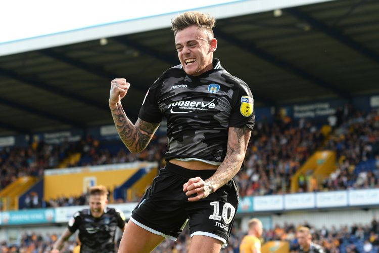 Sammie Szmodics celebrates a goal against Mansfield Town (Picture: Colchester United).