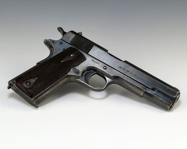 Colt 1911 from Gerald R Ford Presidential Museum 750px-Pistol_used_by__Squeaky__Fromme