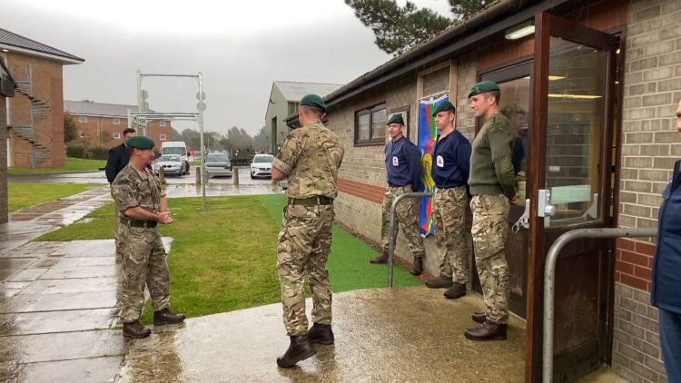 Commandant General Royal Marines, Major General Matt Holmes opens rehabilitation gym at chivenor 300920 CREDIT BFBS.jpg