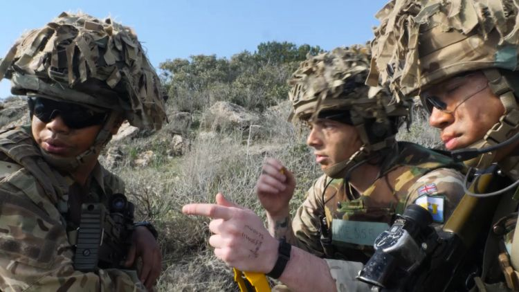 Cyprus Signals Exercise squadron talks 220119 CREDIT Forces News