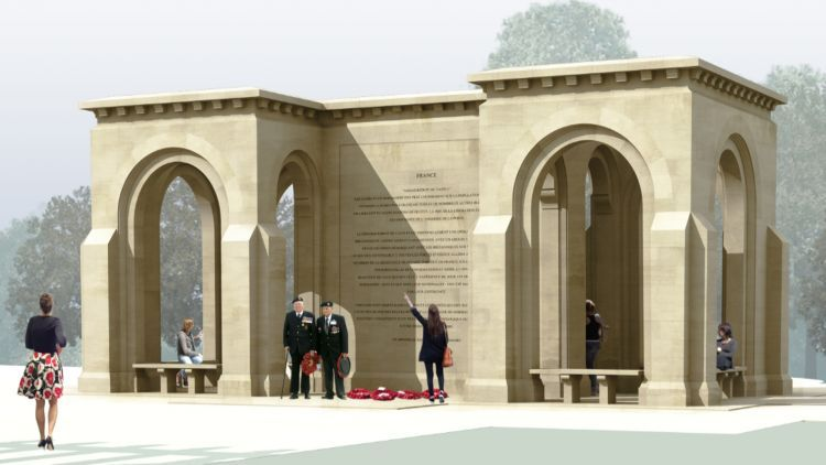 Locals say they're concerned the monument will block their views. (Picture: Normandy Memorial Trust).