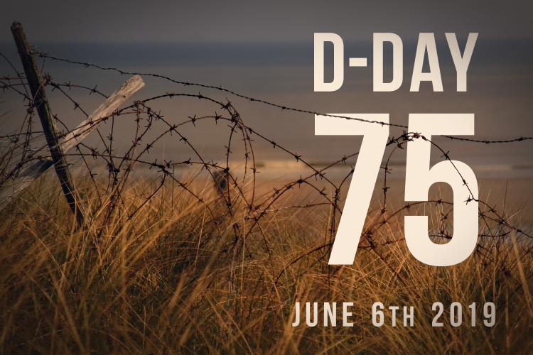 D-Day 75 barbed wire Normandy image: Elaine Holtom graphic 2019