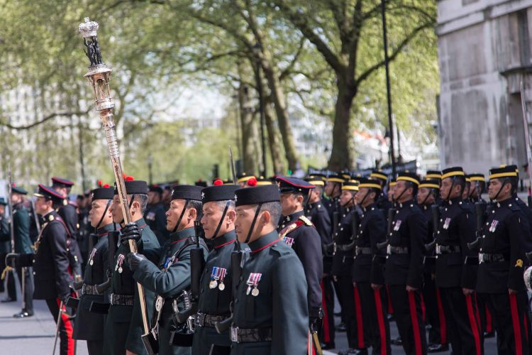 Brigade Of Gurkhas With Queen's Truncheon