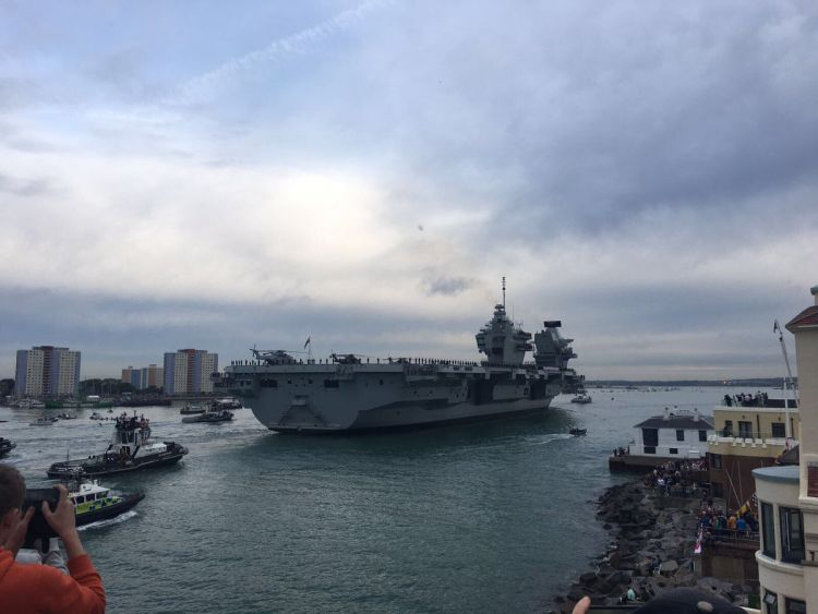 HMS Queen Elizabeth Arrives Homes