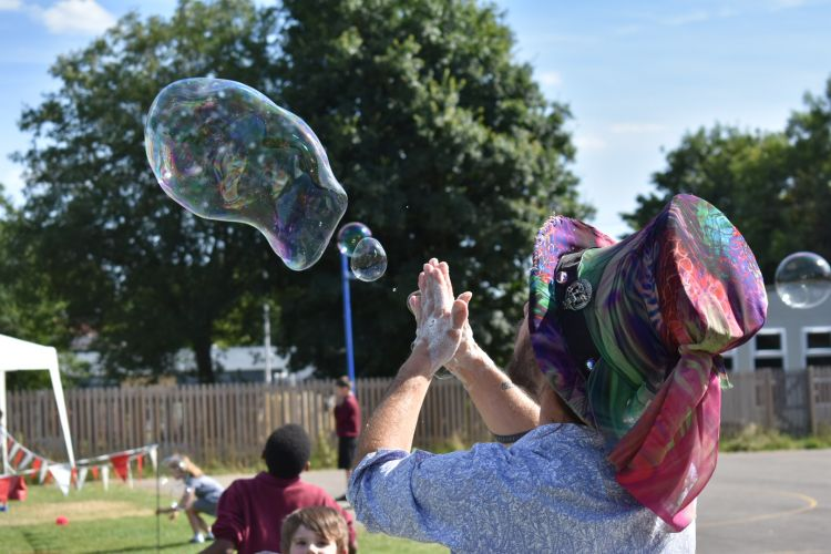 Extraordinary Bubbles at Gosport District Service Families Picnic