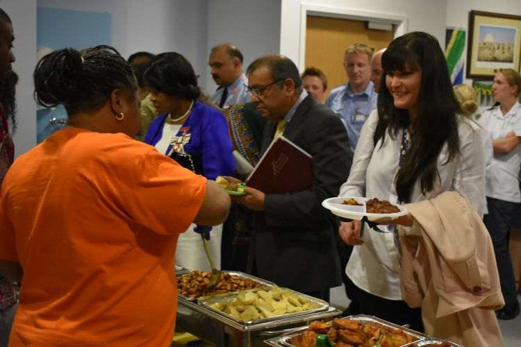 An international buffet was served alongside displays of cultural tradition from across the Commonwealth
