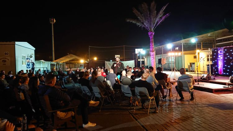 The tour party visited three locations across the Middle East during one whistle-stop week