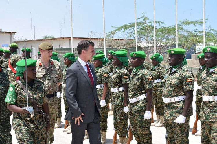 Mark Lancaster in Somalia