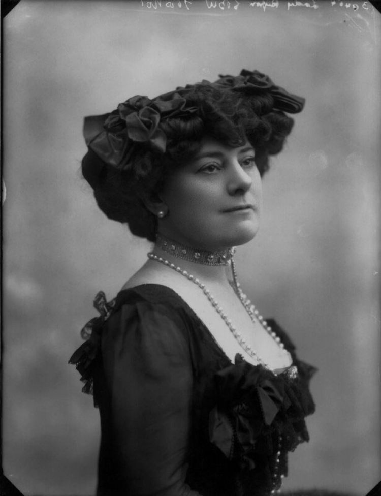 Lady Lucy Houston Suffragette Black And White Credit © National Portrait Gallery, London