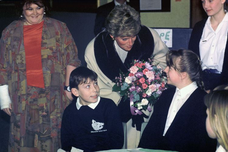 Princess Diana visited British military families based in Germany at Christmas Image:PA