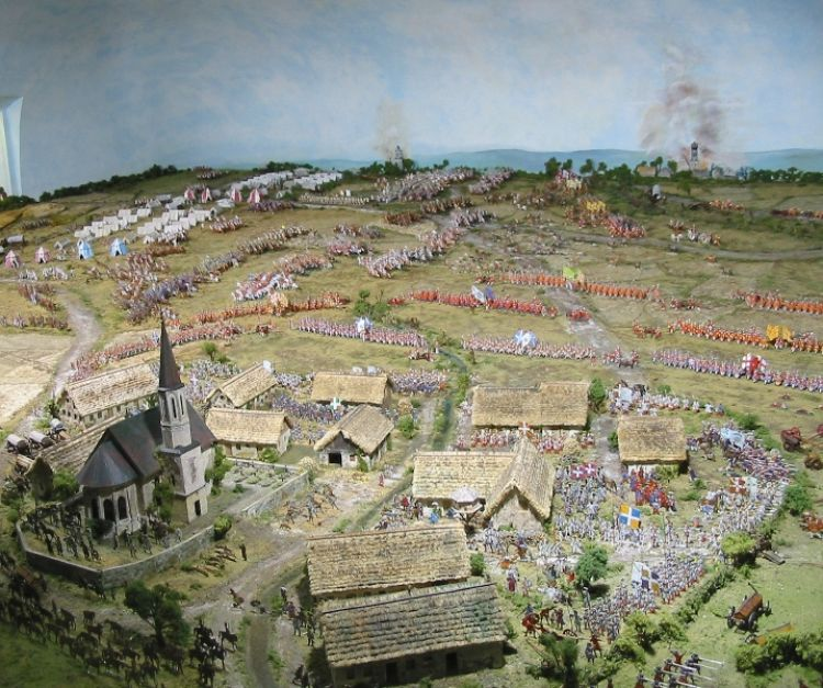 A Diorama of the Battle of Blenheim in Hochstadt, Germany (image: J Williams)
