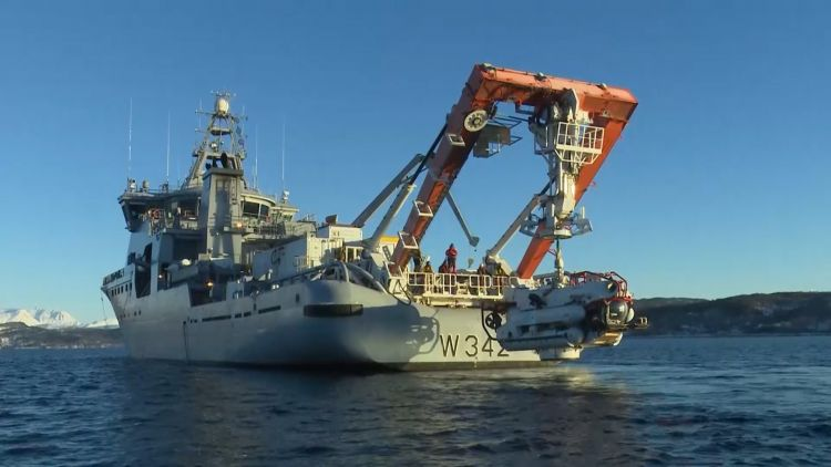 NATO submarine rescue vessels in Ex Dynamic Monarch