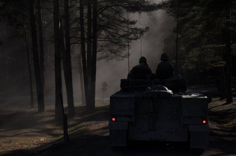 Warrior armoured vehicle Op Cabrit Credit BFBS