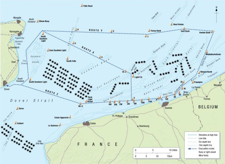 Escape routes across Channel dunkirk